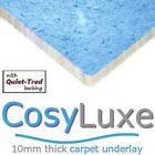CosyLuxe 10mm thick carpet underlay luxury feel for lounge stairs hall bedrooms