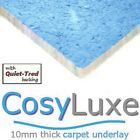 CARPET UNDERLAY CosyLuxe 10mm thick luxury feel for lounge stairs hall bedrooms