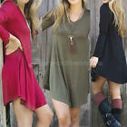 Womens Lady Summer Loose Casual Long Sleeve Evening Party Cocktail Short Dress