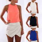 Fashion Women's Summer Loose Sleeveless Tank T-Shirt Casual Blouse Tops Vest Tee