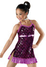 NEW 'Hot Note' Pink Purple Dance Ice Skating Tap Jazz Competition Costume Dress