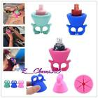 Silicone Flexible Wearable Nail Art Polish Bottle Holder Stand Finger Varnish Z