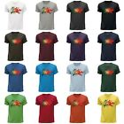 STUFF4 Men's Round Neck T-Shirt/Portugal/Portuguese Flag Splat/CS