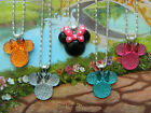 *SALE* MINNIE MOUSE PENDANT NECKLACE PINK BLUE ORANGE BLACK PINK GREEN