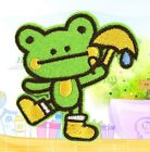 FD2690 Embroidery Cloth Iron On Patch Sewing Motif Applique DIY ~Umbrella Frog~