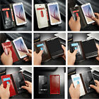 Luxury Leather Magnet Flip Wallet Bumper Cover Case For SmartPhone 4colors