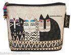 Laurel Burch Cat Wild Cats Mini Organizer Bag Makeup Art Crafts Pencil Meds NEW