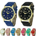 Fashion Elegant Women Ladies Watch Geneva Faux Leather Analog Quartz Wrist Watch