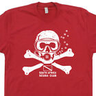 SCUBA Diving T SHIRT Africa dive mask Team Zissou flag tank fins skull T Shirts