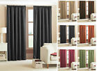 Luxury BlackOut Thermal Curtains Pair. Made From Soft BlackOut Material
