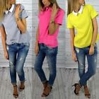 Women Chiffon Short Sleeve Top Shirt Blouse Loose Casual Tops Fashion Blouse Hot