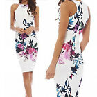 CHIC Fashion Women Summer Sexy Floral Casual Party Evening Cocktail Slim Dress