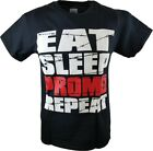Paul Heyman Eat Sleep Promo Repeat WWE Authentic Mens T-shirt
