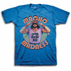 Macho Man Randy Savage Madness WWE Mens Blue T-shirt