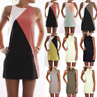 Plus Size Women Summer Casual Party Cocktail Mini Dress Long Vest Tank Top Shirt