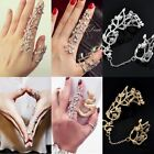 Women Rings Multiple Finger Stack Knuckle Band Crystal Ring Set Luxury Jewelry