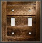Switch Plate Cover - Rustic Barn Wood Planks Image - Country Cabin Home Decor 02