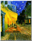 Vincent van Gogh Cafe Terrace at Night Repro Stretched Canvas Giclee Art Artwork