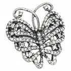 Butterfly Cocktail Ring Crystal Clear Costume Jewelry Summer Party Size 5 6 7 8