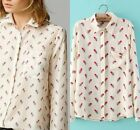 New cotton women long sleeve spring autumn print casual tops blouse shirts