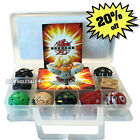 Child Gift Bakugan Battle Brawlers 9 Different Boys Bakugans 9 Cards WIth Case