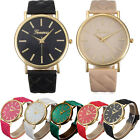 Geneva Women Watch Roman Leather Analog Quartz Wrist Watch Casual Dress Watches