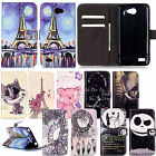 PU Leather Phone Case Cover Skin with Card Slot Stand Function for LG Smartphone