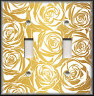 Light Switch Plate Cover - Gold Image Of Roses - Nursery Decor/Home Decor
