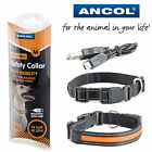 Ancol Flashing Dog USB Collar Safety LED Light Up Rechargeable Small Med Large