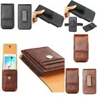 For Various Phones Magnetic PU Leather Flip Belt Pouch Wallet Card Case Cover
