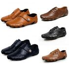 New Fashion Men Soft Leather Casual Loafers Ankle Strap Moccasins Driving Shoes