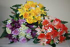Mixed Silk  Artificial  Bunches Rose Lilies  Ranunculus & Leather Fern