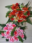 Artificial Silk Rose Lilies & Mixed Foliage Bunch Flowers PP025