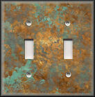 Light Switch Plate Cover - Image Of Aged Copper - Patina - Home Decor Rustic