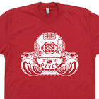 SCUBA Diving Helmet T SHIRT Vintage The Life Aquatic Retro Flag Navy Seals Tee