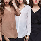 CHIC Womens Ladies Slim Fit Long Sleeve Casual Blouse Shirt Top Fashion Blouse