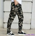 Hot Mens Overall Camouflage Plus Size Jogger Pants Slim Fit Combat Camo Trousers