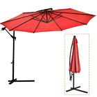 New 10' Patio Umbrella Offset Hanging Umbrella Outdoor Market Umbrella D10 фото