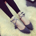 Gorgeous Women Choker Tassels Lace Up Flats Sandals Roman Strappy Ankle Shoes