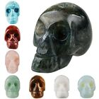 Quartz Tiger Eye Agate Crystal Natural Gemstone Carved Skull Skeleton Head Decor