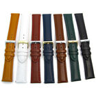 Padded Double Stitched Leather Watch Strap Band 18mm 20mm 22mm 7 Colours C021