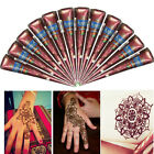 3 Colors Body Art Paint Natural Herbal Henna Cones Temporary Tattoo Mehandi ink