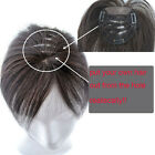 Human Lace Top Piece Closures Toppers Toupees Clip in Hair extensions For Bald