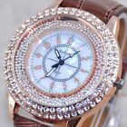 Hourglass Color Fluorescence Pearl Shell Dial Diamond Leather Women Girl Watches