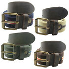 Timberland Mens Casual Belt Canvas Leather Brown Beige Green Blue (M3571 R5)