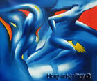 Modern Handmade Blue body art Abstract Oil Painting Living Room Wall Deco H2018