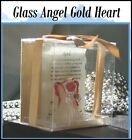 Glass Angel with Gold Heart Lights Up with Sunlight April Month Poem Inside Gift