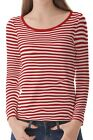 Red Stripe Women's Clothing Long Sleeve Tee T-Shirt