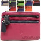 Ladies / Womens Super Soft 100% Leather Multi-Colour Coin / Money Purse