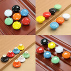 1/2/10pc Round Ceramic Door Knob Cabinet Drawer Kitchen Cupboard Pull Handles CH
